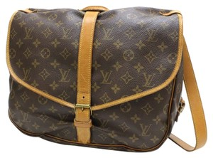 Louis Vuitton Monogram Canvas Saumur 35 Saumur Cross Body Classic Luggage Totes Vintage Diaper Neverfull Stock10085915338 Brown Messenger Bag