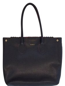 Furla Tote in Black outside and pink Inside