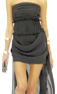Chanel Silk Strapless Applique Dress