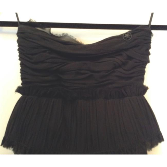 Chanel Silk Strapless Corset Applique Dress