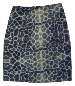 shakuhachi Mini Skirt Blue giraffe print