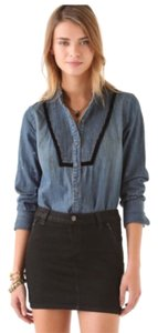 Free People Button Down Shirt Denim