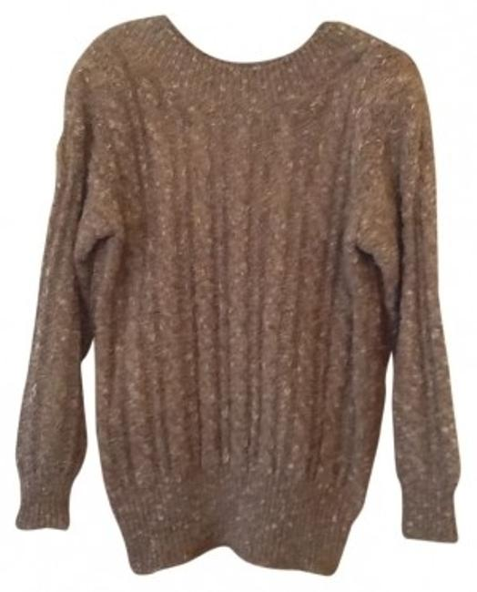 Preload https://item4.tradesy.com/images/liz-claiborne-brown-tweed-cable-knit-sweaterpullover-size-6-s-111553-0-0.jpg?width=400&height=650