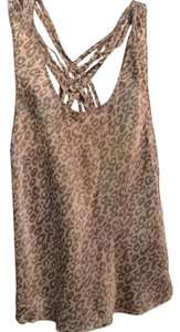 Banana Republic Silk Leopard Top Tan