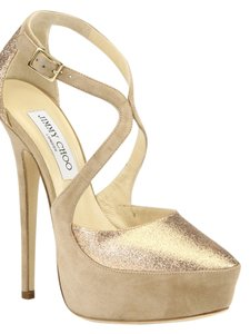 Jimmy Choo Gold/nude Pumps