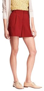 Old Navy High-rise Twill Dress Shorts Red