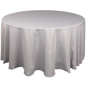 Silver/Gray 4 Silver/Gray Round (90 Inch) Tablecloth