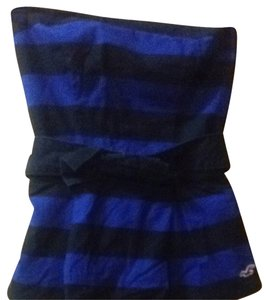 Hollister Striped Navy Blue/Royal Blue Halter Top