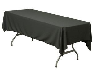 Black 4 (60 X 102 Inches) Tablecloth