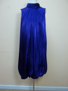 Alfred Angelo Amethyst Charmeuse 7120 Formal Bridesmaid/Mob Dress Size 10 (M)