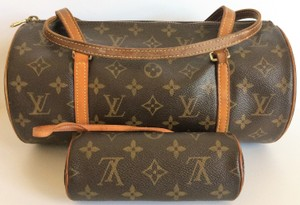 Louis Vuitton Papilon Neverful Speedy Satchel in Brown