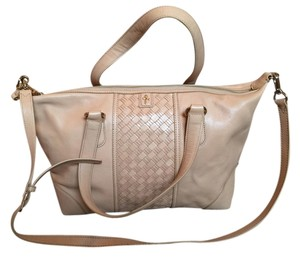Cole Haan Leather Satchel in Sandstone
