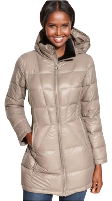 Item - Beige Packable Hooded Puffer Coat Size 4 (S)