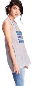 Old Navy Graphic Muscle Tee Top Gray
