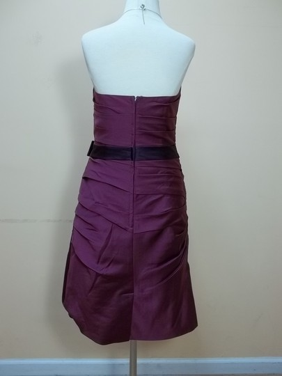 Alfred Angelo Berry/Grape Satin 7123 Formal Bridesmaid/Mob Dress Size 12 (L)