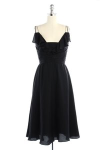 BHLDN Black Silk Couplet Vintage Bridesmaid/Mob Dress Size 0 (XS)