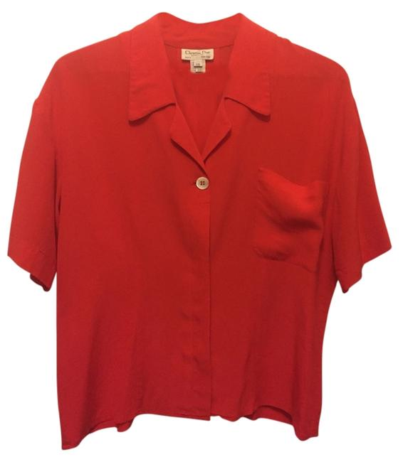 Preload https://img-static.tradesy.com/item/11157169/dior-red-button-down-top-size-10-m-0-2-650-650.jpg