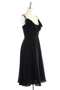 BHLDN Black Silk Couplet Vintage Bridesmaid/Mob Dress Size 12 (L)