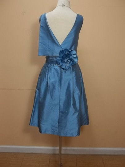 Alfred Angelo French Blue Silk 7147 Formal Bridesmaid/Mob Dress Size 14 (L)