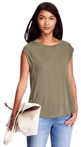 Old Navy Relaxed Cap-sleeve Tee Top Green