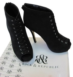 Rock & Republic Size 6.00 M Very Good Condition Black Boots