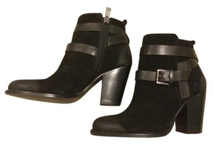 Ivanka Trump Leather Suede Belted Comfortable black Boots