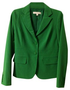 New York & Company Green Spring Skirt Suit (Jacket Size 2- Skirt Size 0)