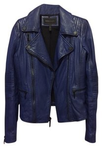 BCBGMAXAZRIA Cobolt Blue Leather Jacket