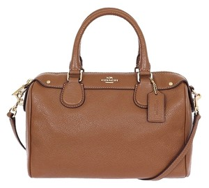 Coach Pebble Lether Satchel in saddle