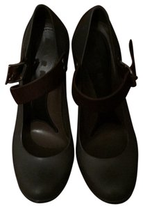 Marni Straps-brown; body-leather; brown/purple Pumps