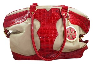Tory Burch Tote in Red and Cream