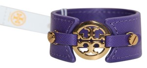 Tory Burch TORY BURCH SKINNY LOGO DOUBLE SNAP CUFF