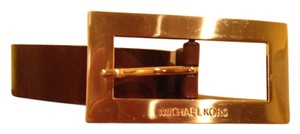 Michael Kors Michael Kors Brown Leather Belt with Silver Buckle