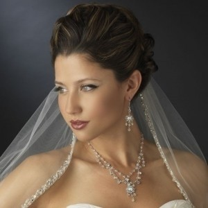 Elegance By Carbonneau Crystal Wedding Necklace Chandelier Earrings