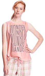 Old Navy Lounge Graphic Sleeveless Top Peach