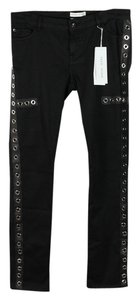 Each x Other Eyelet Grommet Leather Denim Skinny Jeans