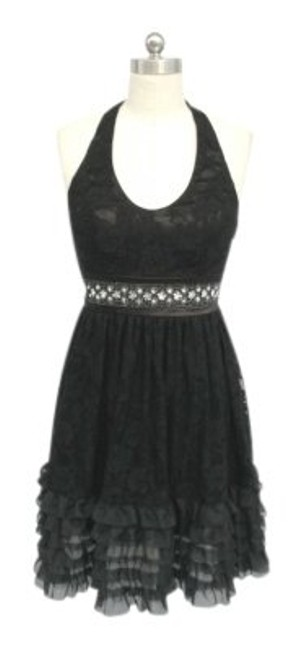 Preload https://img-static.tradesy.com/item/111592/black-lace-halter-knee-length-cocktail-dress-size-14-l-0-0-650-650.jpg