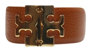 Tory Burch Tory Burch Wide T Hinge Bracelet Tan