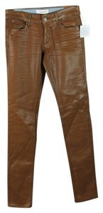 Habitual Coated Leather Look Skinny Jeans