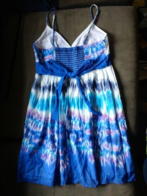 Forever 21 short dress Blue Tie Dye Summer on Tradesy