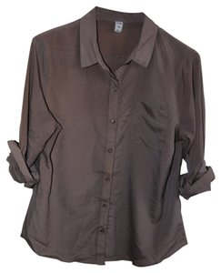 Old Navy Button Down Button Down Shirt taupe
