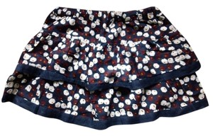 Hollister Mini Skirt Navy Blue, Floral, Multi