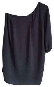 Honey Punch short dress Navy Blue One Shoulder Mini on Tradesy