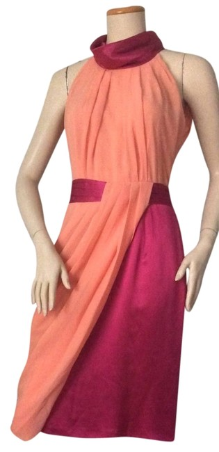 Preload https://img-static.tradesy.com/item/11161300/viktor-and-rolf-orange-powderripe-pink-pleated-asymmetric-428-knee-length-night-out-dress-size-8-m-0-1-650-650.jpg
