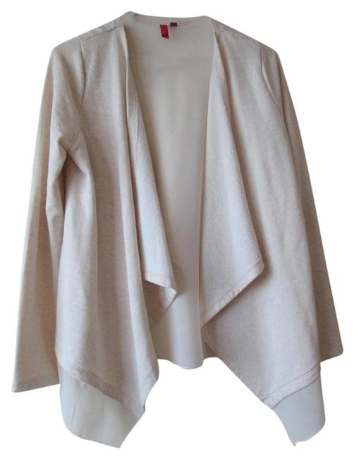 5/48 Saks French Terry Cross Back Long Sleeves Draped Tulip Back Cardigan