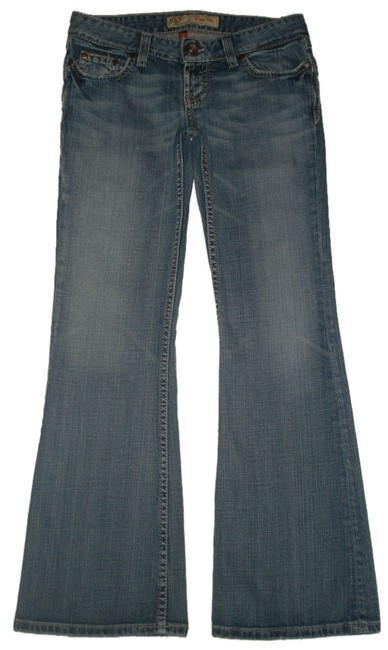BKE Classic 5 Pocket Style *zip Fly *low Rise Leg Opening *machine Washable *cotton/Spandex *whiskering & Distressing Back Boot Cut Jeans-Medium Wash