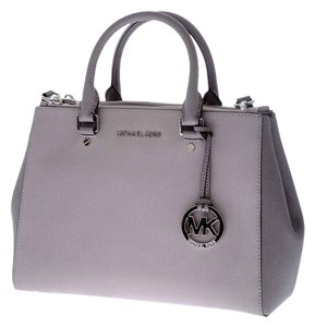 Michael Kors Sutton Satchel in Pearl Grey/Steel Grey