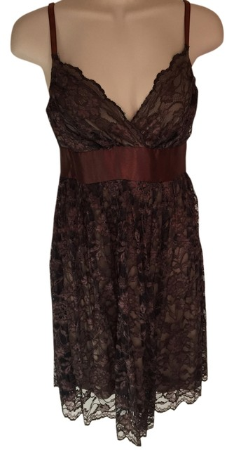 Preload https://img-static.tradesy.com/item/11161645/necessary-objects-dark-brown-short-night-out-dress-size-4-s-0-1-650-650.jpg