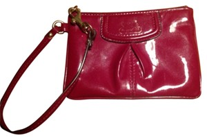 Coach Wristlet in Orchid Red