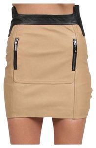Stella & Jamie Mini Skirt Camel and black